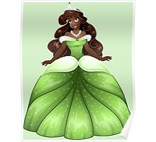 African Princess In Green Dress Poster