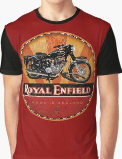 Royal Enfield Vintage Motorcycles UK INDIA Graphic T-Shirt