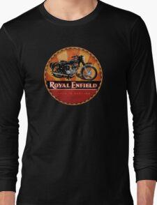 Royal Enfield Vintage Motorcycles UK INDIA Long Sleeve T-Shirt