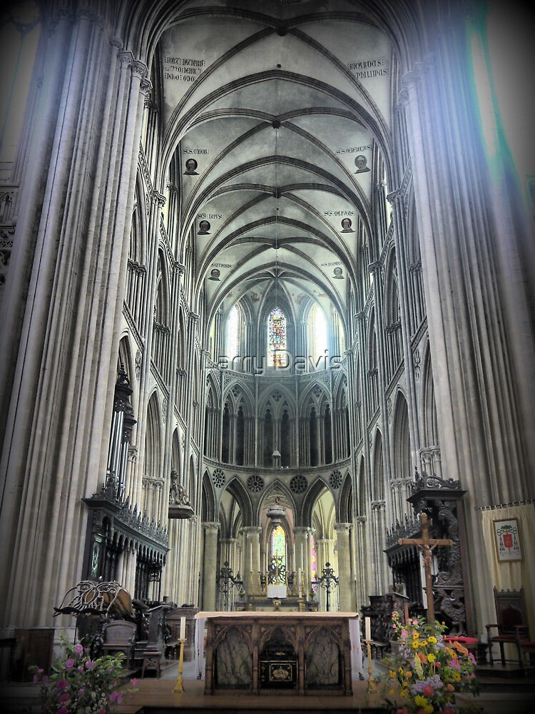 The Bayeux Cathedral ( 7 ) by Larry Lingard-Davis