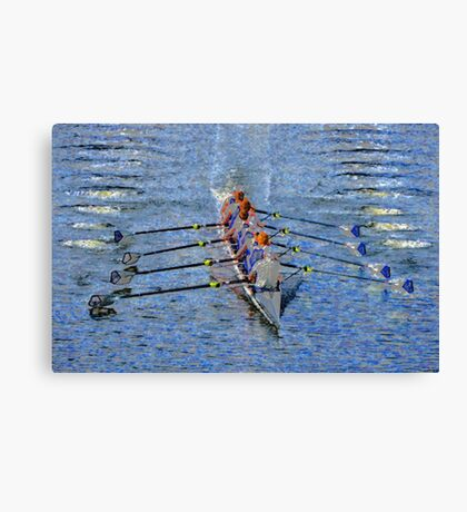 The art of rowing Canvas Print