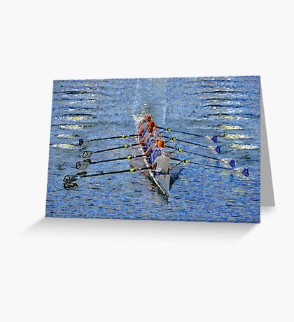 The art of rowing Greeting Card