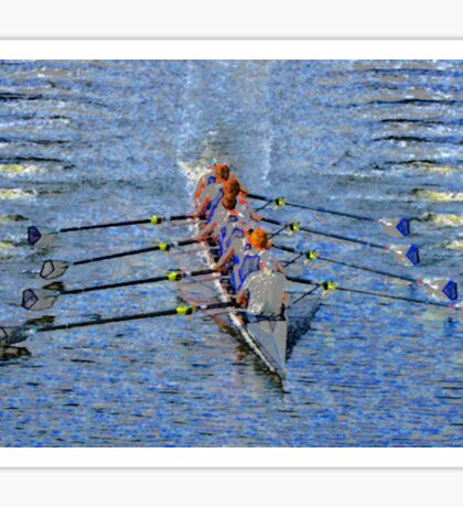 The art of rowing Sticker