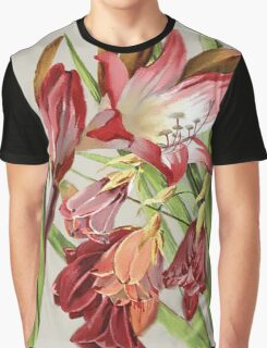 Vintage Botanical Amaryllis Blossoms  Graphic T-Shirt
