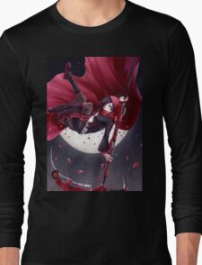 Red Rider Rose Long Sleeve T-Shirt