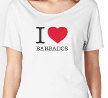 I ♥ BARBADOS Women's Relaxed Fit T-Shirt