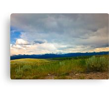 Storm Approaching The Tetons Canvas Print