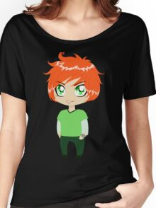 Red Headed Guy In Green Clothes Women's Relaxed Fit T-Shirt