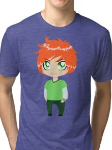 Red Headed Guy In Green Clothes Tri-blend T-Shirt