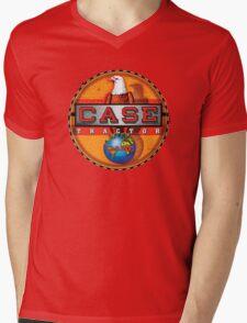 Vintage Case Tractor Eagle sign Mens V-Neck T-Shirt