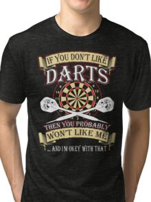 i like darts  Tri-blend T-Shirt