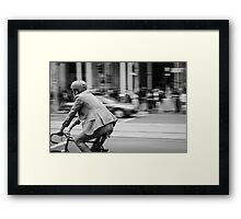In Melbourne, We Ride! Framed Print