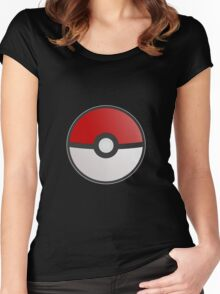 Pokemon Pokeball Women's Fitted Scoop T-Shirt