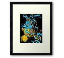 Abstract Retro Pattern 1 Framed Print