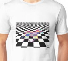 Checkered Zebra Unisex T-Shirt