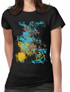 Abstract Retro Pattern 1 Womens Fitted T-Shirt