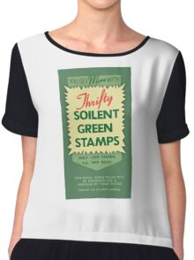 Soilent Green Stamps Chiffon Top