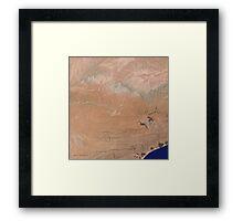 Satellite image Southeast Yemen Framed Print