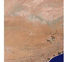 Satellite image Southeast Yemen Photographic Print