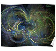 Flying a Kite - Apophysis Digital Fractal Manipulation Poster