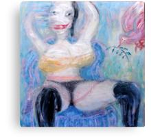 Woman and Bird 3 Canvas Print
