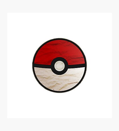 Pokeball vs Pokemon Photographic Print