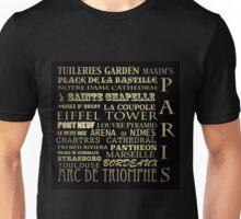 Paris France Famous Landmarks Unisex T-Shirt