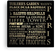 Paris France Famous Landmarks Canvas Print