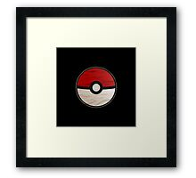 Pokeball vs Pokemon Framed Print