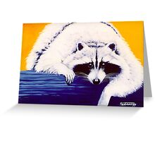 Raccoon in my dream - acrylic painting on canvas Greeting Card