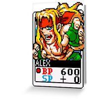 Alex - Street Fighter Greeting Card
