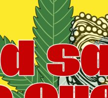 God Save The Queen - Weed Clothing and Gifts Design Sticker