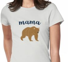 Modern Mom Mama Bear Womens Fitted T-Shirt