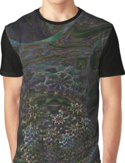 Trippy Fractal Design Graphic T-Shirt
