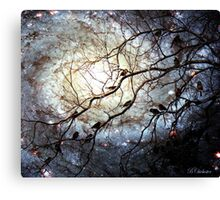 Starry Snowy Night Canvas Print