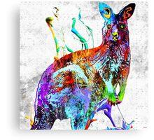 Kangaroo Grunge Canvas Print