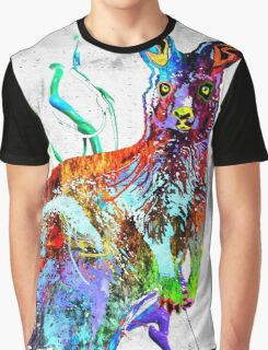 Kangaroo Grunge Graphic T-Shirt