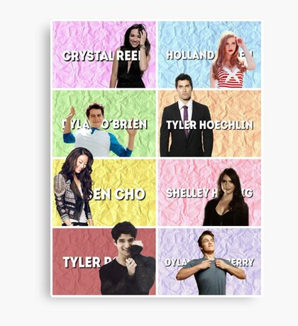 Teen wolf characters Canvas Print