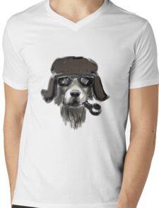 Dog with glasses Mens V-Neck T-Shirt