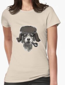 Dog with glasses Womens Fitted T-Shirt