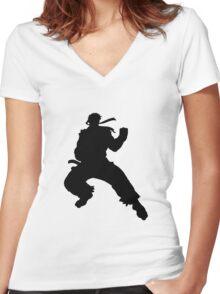 Ryu T-Shirt Women's Fitted V-Neck T-Shirt
