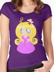 Blond Cupcake Princess In Pink Dress Women's Fitted Scoop T-Shirt