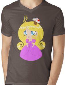 Blond Cupcake Princess In Pink Dress Mens V-Neck T-Shirt