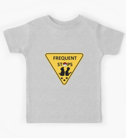 Pokemon frequent stops yield sign Kids Tee