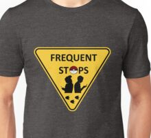 Pokemon frequent stops yield sign Unisex T-Shirt