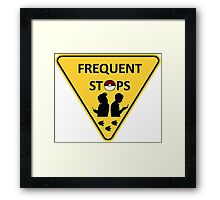Pokemon frequent stops yield sign Framed Print