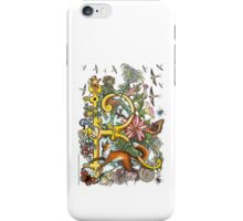 "The Illustrated Alphabet Capital  R  ""Getting personal"" iPhone Case/Skin"