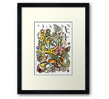 """The Illustrated Alphabet Capital  R  """"Getting personal"""" Framed Print"""