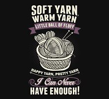 Soft Yarn Warm Yarn Little Ball Of Fluff Womens Fitted T-Shirt