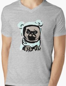 Pug in the hood Mens V-Neck T-Shirt